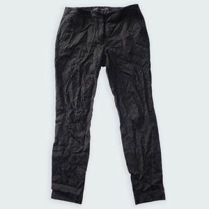 ZARA Basics Black Textured Fisher Pants Size S
